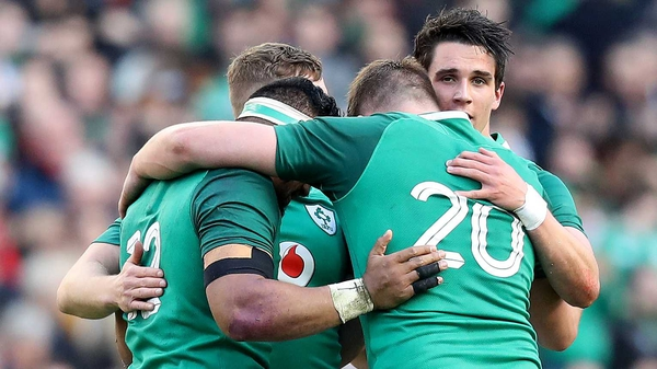 Ireland are ranked second in the world