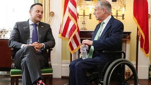 Taoiseach Leo Varadkar met Texas Governor Greg Abbott in Austin, Texas, today