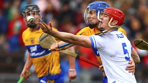 Tadhg de Burca and Shane O'Donnell battle for possession