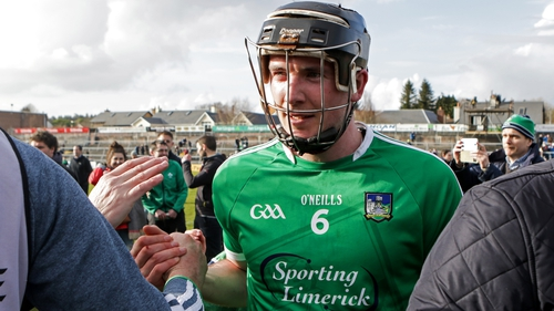 Limerick's Declan Hannon celebrates after the game