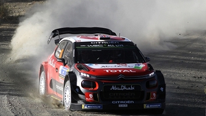 Kris Meeke and co-driver Paul Nagle in their Citroen C3