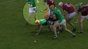 Adrian Tuohy's hurl made contact with Barry Murphy