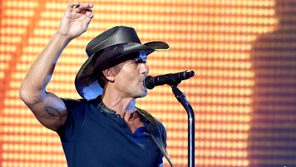 Tim McGraw collapsed on stage at the 3Arena on Sunday night