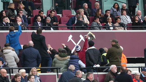 David Sullivan hit by coin in West Ham fan protests