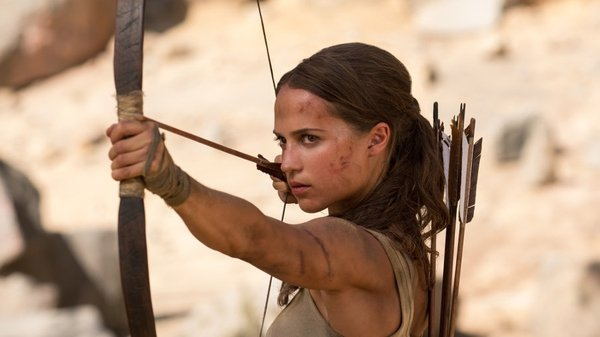 Alicia Vikander as Lara Croft in Tomb Raider