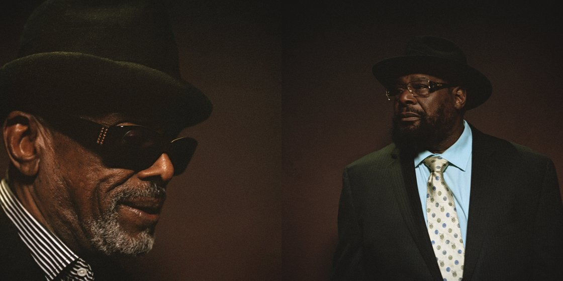 Image - Leon Ware and George Clinton at the Mayan Theatre, Downtown Los Angeles, California, December 2012