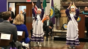 Leo Varadkar is welcomed by the Choctaw people of Oklahoma