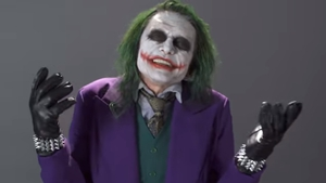 Tommy Wiseau as The Joker Screengrab: Nerdist