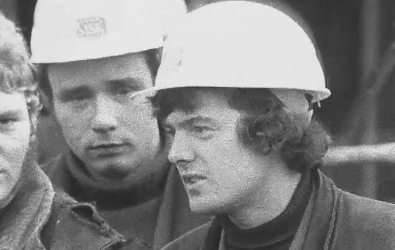 Workmen on building site (1968)