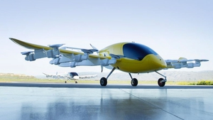 The electric aircraft has a dozen lift fans on its wings