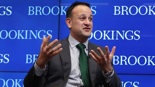 Taoiseach Leo Varadkar takes questions from the floor after giving a speech at the Brookings Institute in Washington