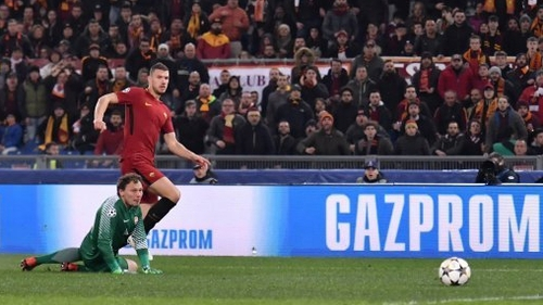 Edin Dzeko got the priceless goal in the second half