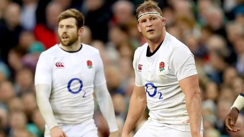 Dylan Hartley (R) has reportedly failed to recover from a knee injury in time for Eddie Jones' training camp