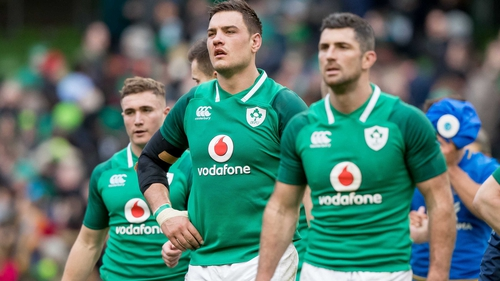 Roux (centre) in Ireland colours