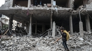 "The United Nations office for the coordination of humanitarian affairs said conditions for those remaining in Eastern Ghouta are ""dire""."