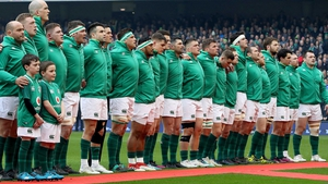 Ireland stand for the anthems before last Saturday's clash with Scotland