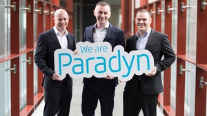 Paradyn's COO Paul Casey, CEO Cillian McCarthy and CTO Rob Norton