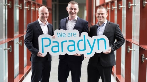 Paul Casey, Director of Paradyn, Cillian McCarthy, CEO of Paradyn and Rob Norton Director of Paradyn