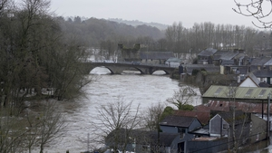 The River Nore in Thomastown has overflowed its banks (Pic: Dylan Vaughan)