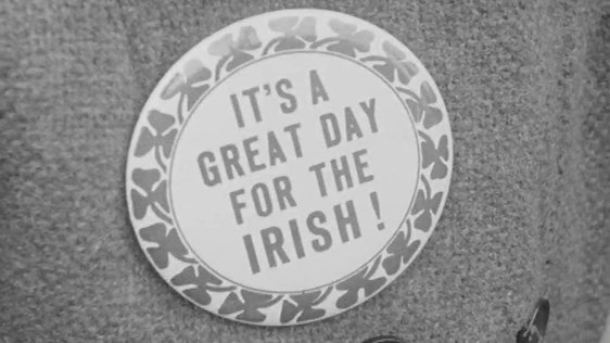 St Patrick's Day Badge New York (1968)