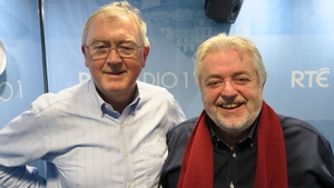Sean O'Rourke (L) with composer Bill Whelan