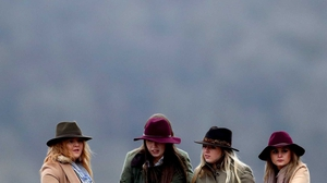 Hats, seen at Cheltenham last month, were not needed for this low-key card