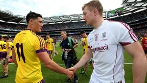 Lee Chin and Joe Canning after last year's Leinster final