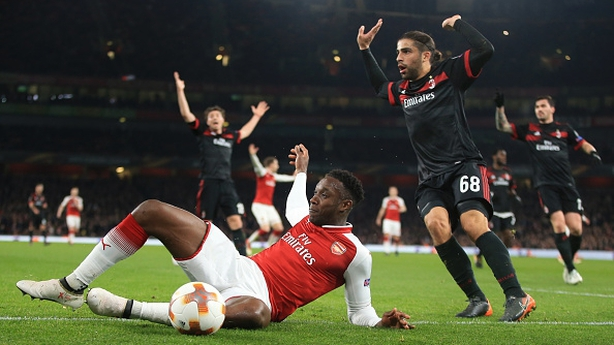 Arsenal see off AC Milan to reach the Europa League quarterfinals