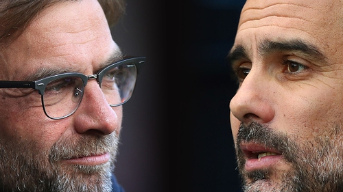 Liverpool manager Jurgen Klopp and his Manchester City counterpart Pep Guardiola will cross paths in the Champions League quarter-finals