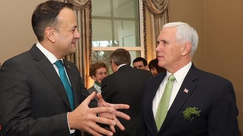 Leo Varadkar held talks with US Vice President Mike Pence