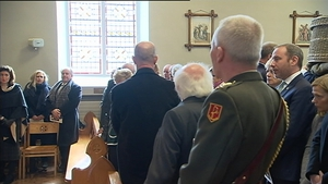 President Higgins was among the mourners at St Brigid's Church in Kill