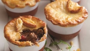 Fulvio's Beef and Stout Pies with Pastry Topping