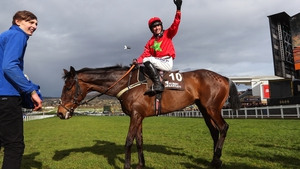 Harry Compton onboard Kilbricken Storm celebrates