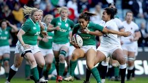 England's Lagi Tuima tackles Sene Naoupu of Ireland