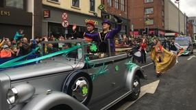 Limerick Parade Grand Marshall Marion Fossett, ringmaster of the Fossett family circus