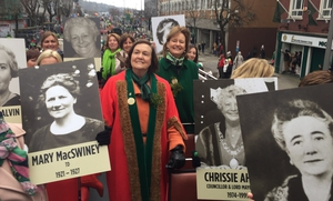 Women in politics who have represented Cork at national and local level are leading this year's Cork parade