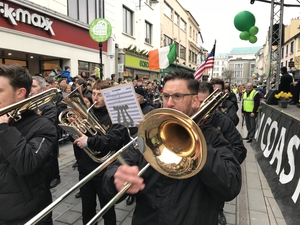 A marching band in the Killarney parade