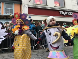 Children on the streets of Killarney enjoy the parade