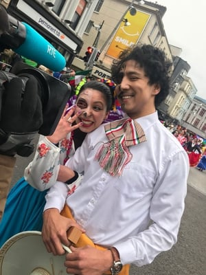 A marriage proposal in the middle of Cork's parade..  And yes, Loriana said yes to Luis!