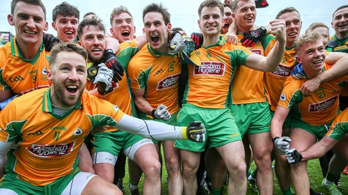 Corofin players celebrate their success