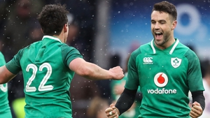 Joey Carbery and Conor Murray show their emotion