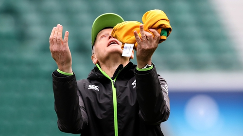 The Ireland head coach looks to the skies