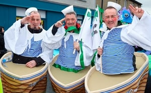 Sailors in the seaside town of Bray
