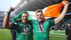 CJ Stander and Jordi Murphy celebrate post-match