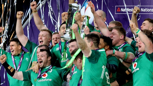 The victorious Irish players will be received at the Aviva Stadium tomorrow