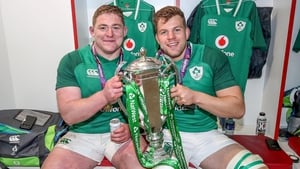 Tadhg Furlong (l) was one of Ireland's stars in the Six Nations triumph