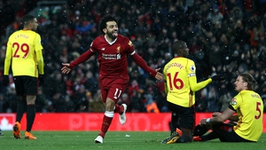 Mohamed Salah scored four goals as Liverpool blitzed Watford in Anfield