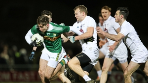 Kerry's Adrian Spillane under pressure from Peter Kelly of Kildare