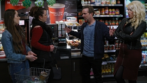 The Collins cause a scene in Phelans on Fair City