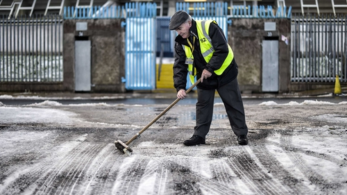 There is a yellow snow and ice warning for Donegal and a yellow rain warning for large parts of the country on a day when 20 Allianz Football and Hurling Leagues are scheduled to go ahead